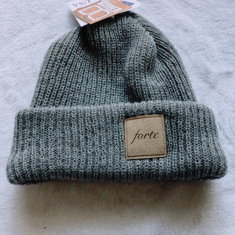 forte Official suède Tag Knit(Light Gray)