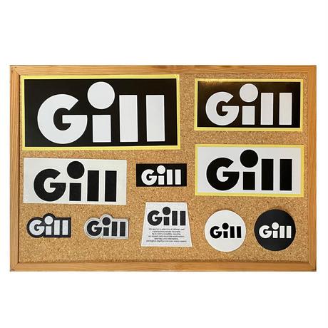 Gillサイナーズセイルステッカー 8cm 丸形