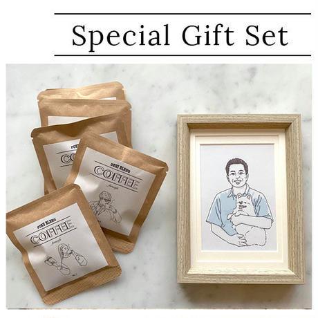 世界に一つだけのプレゼント~ドリップバッグと似顔絵~