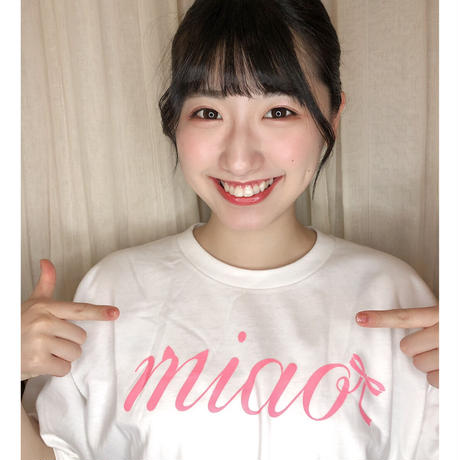 【miao】デビュー記念Tシャツ/White