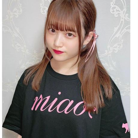 【miao】デビュー記念Tシャツ/Black