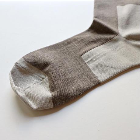 KARMAN LINE /GEMINI かかと・爪先 配色靴下