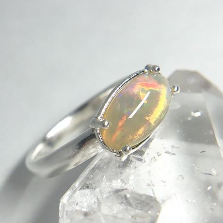 天然オパール純銀リング1.73ctオーストラリア・ミンタビー産|14号☆原石から磨いた1点もの