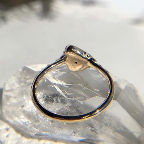 K10天然ブラックオパールリング0.57ct 13号☆オーストラリア・ライトニングリッジ産原石から磨いた1点もの!