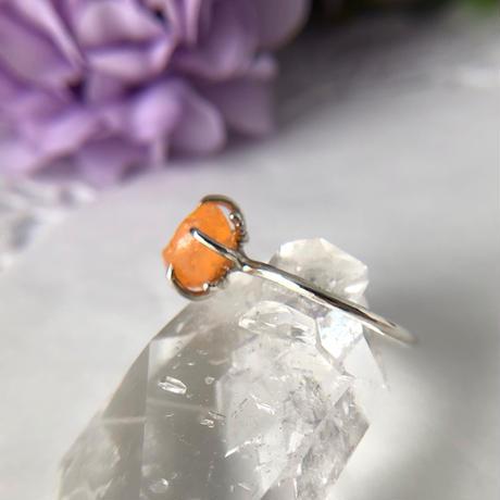 天然ファイアーオパール原石シルバーリング|9号☆メキシコ産
