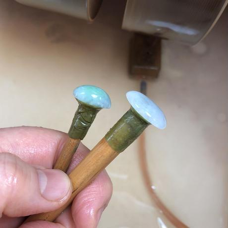 天然翡翠シルバーロングネックレス8.50ct☆ミャンマー産の原石から磨きました!