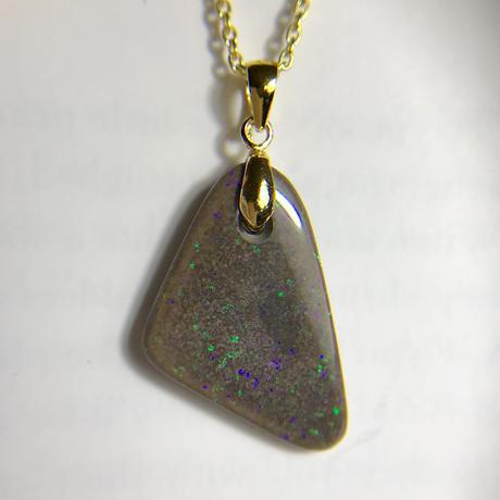 天然マトリックスオパールペンダント9.74ct☆オーストラリア・アンダムーカ産の原石から磨いた1点もの