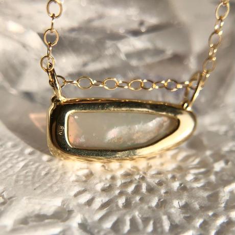 K18☆天然シェルオパール1.91ctネックレス☆ オーストラリアCooberPedy産原石から磨いた1点もの!