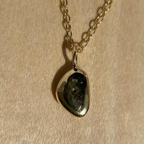 K18☆天然ブラックオパール0.62ctネックレス☆オーストラリアNSW州ライトニングリッジ産原石から磨いた1点もの!