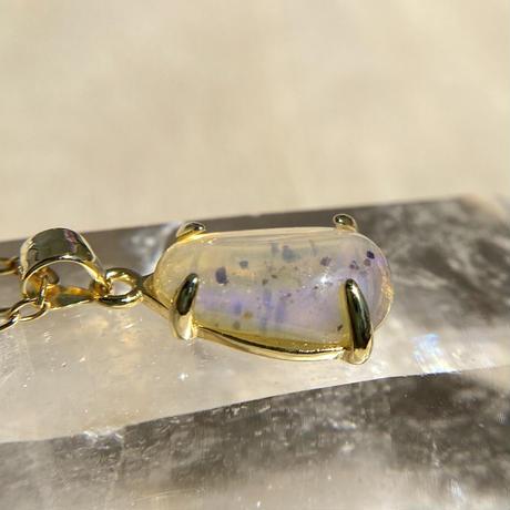 天然クリスタルオパール14kgfネックレス2.34ct☆オーストラリア・ライトニングリッジ産の原石から磨きました!