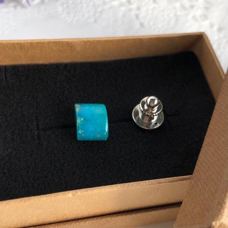 天然トルコ石(ターコイズ)タイタック5.42ct☆ アリゾナ州・キングマン産原石から磨きました!
