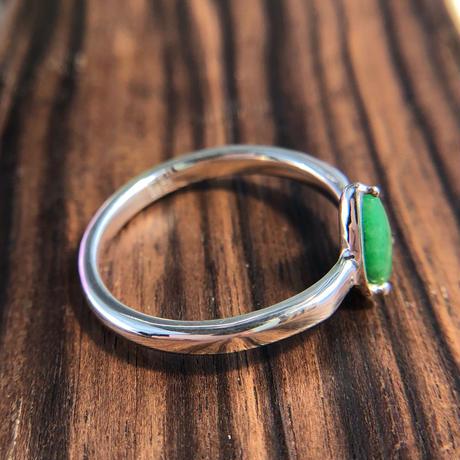 天然翡翠純銀リング1.00ct|16.5号☆ミャンマー産の原石から磨いた1点もの!