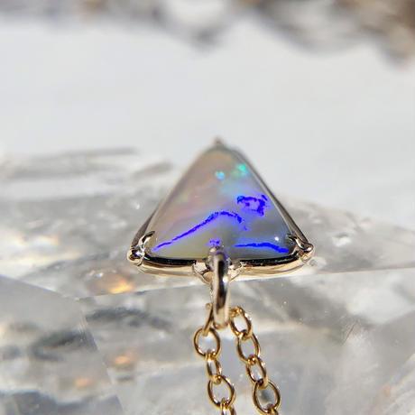 K10天然オパール2.35ctネックレス☆オーストラリア・ライトニングリッジ産原石から磨いた1点もの!