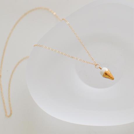 half gold neckless [40cm]