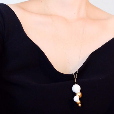 5spheres gold neckless