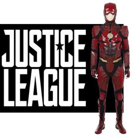 2017映画 Justice League ジャスティス・リーグ バリー・アレン フラッシュ 靴付き コスプレ衣装【オーダーメイド】 (赤) (オーダーメイド)