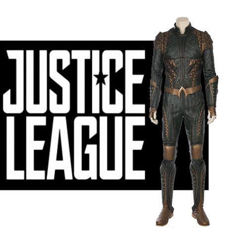 映画 Justice League ジャスティス・リーグ アーサー・カリー アクアマン 靴付き コスプレ衣装【オーダーメイド】 (ブロンズ)