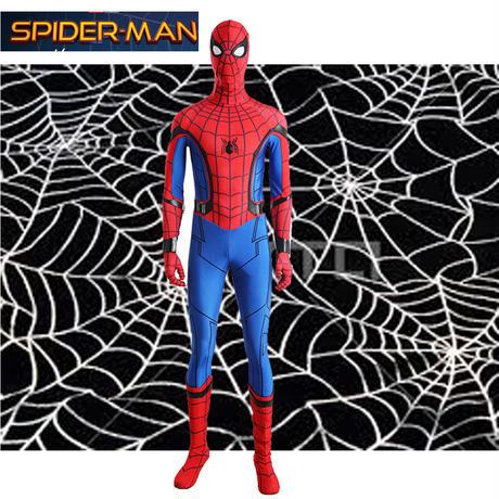 映画 スパイダーマンホームカミング Spider Man ピーター・パーカー 靴付き コスプレ衣装 バラ売り可