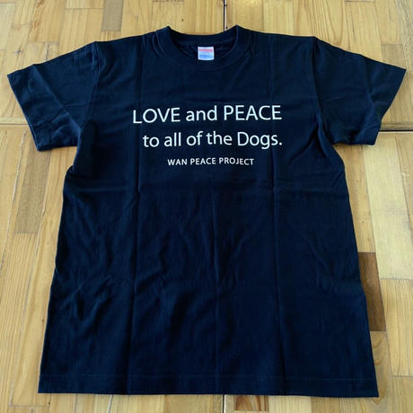 愛犬人Tシャツ ブラック XL