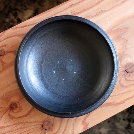 中田光:鉄釉 7.5寸鉢