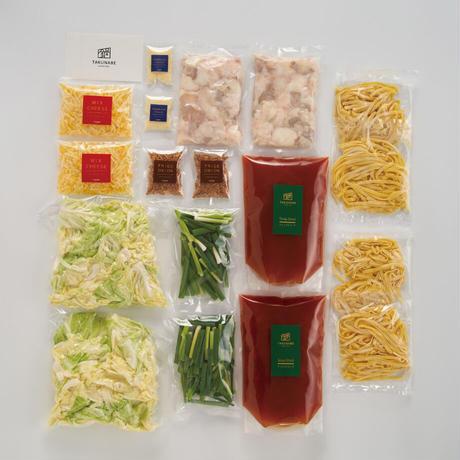 \\\ 追いチーズで2度旨い /// 極上生パスタで〆る国産牛もつ鍋-チリトマト味-(4~5人前)カット野菜付ミールキット