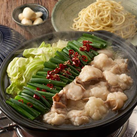 \\\ ベストセラー商品 /// 秘伝国産牛もつ鍋-醤油味-(2~3人前)特製〆ちゃんぽん麺セット