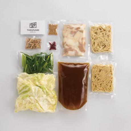 【簡単調理】SOUP CURRY風 国産牛もつ鍋-カレー味-(2~3人前)特製〆ちゃんぽん麺/カット野菜付セット