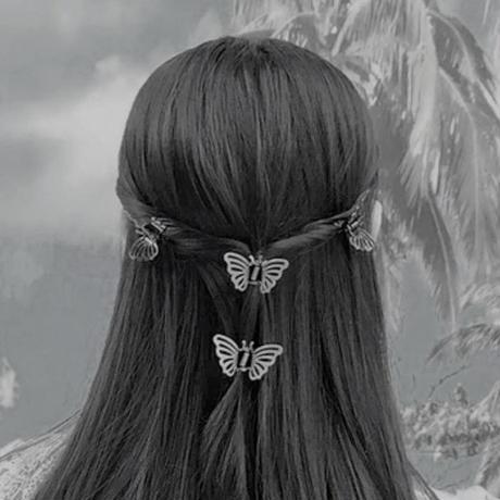 黒蝶ヘアクリップ