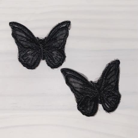 ひらひら蝶ヘアピン2個セット