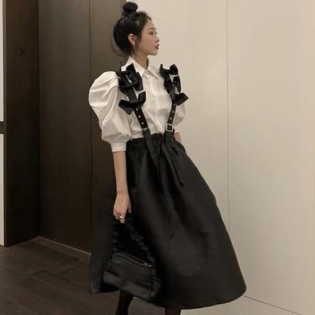 リボンリボン吊りスカート