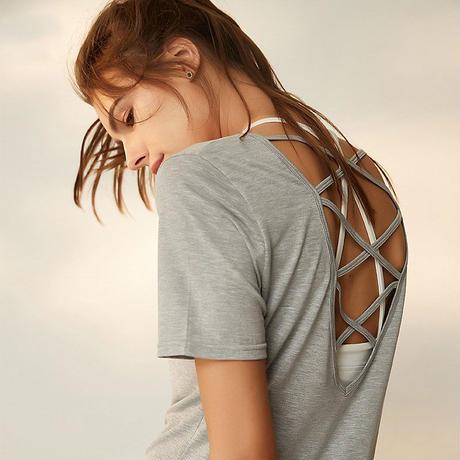バッククロスTシャツ  TRT18