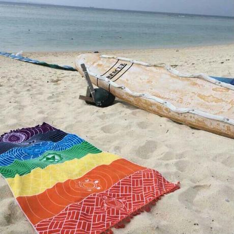 チャクラヨガマットビーチタオルマット LG9003