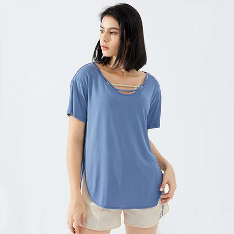【取り寄せ商品】ゆったり半袖Tシャツ  F1418
