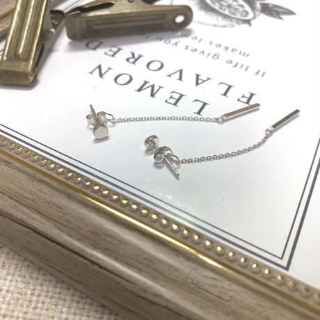 Silver925製ロングチェーンドロップピアス〈a-y-231〉【メール便送料無料】