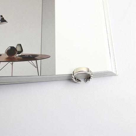 SILVER925製フラットプレートチェーンリング 〈a-r-88〉【メール便送料無料】