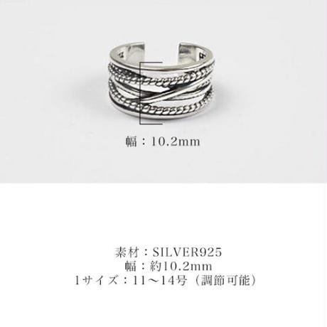 SILVER925製多重リング〈a-r-100〉【メール便送料無料】