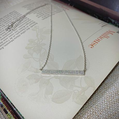 silver925製ジルコニアバーネックレス〈a-n-249〉【メール便送料無料】