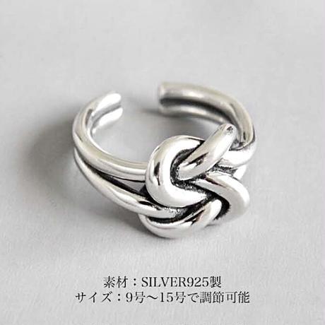 SILVER925トゥルーラバーズノットリング〈a-r-197〉【メール便送料無料】
