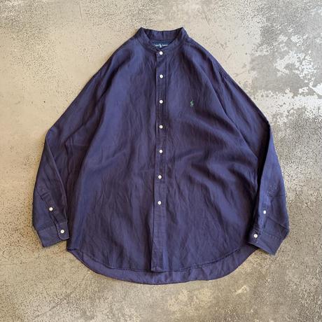 "1990s ""Ralph Lauren BLAKE""シルクブレンドバンドカラーシャツ"