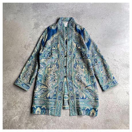 1990s ジャガード織りオリエンタル柄ジャケット