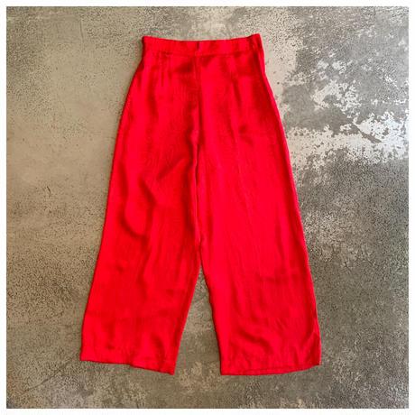 【レディース】1990s シルクペイズリー柄パンツ