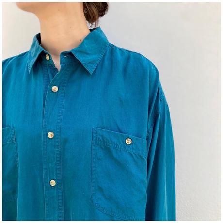 【レディース】1980s バックスリットシルクシャツ
