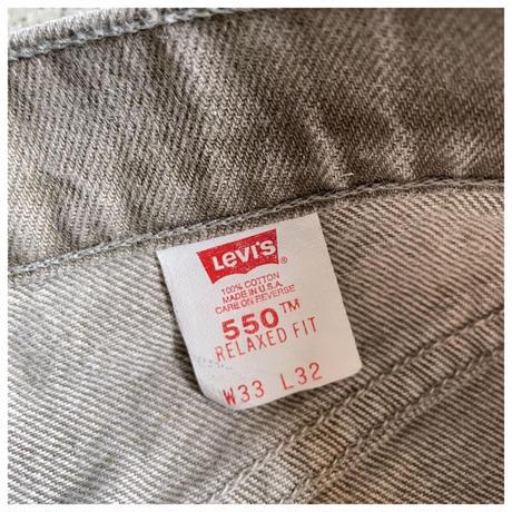 "1990s ""Levi's""550 オリーブグレーデニムパンツ USA製"