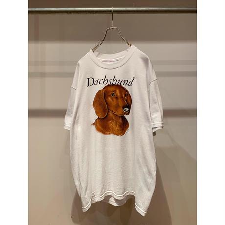 """90年代""""Dachshund""""プリントTシャツ"""