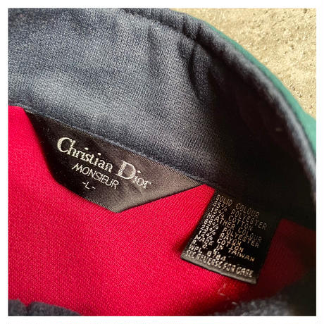 "1990s ""Christian Dior"" スウェットジップアップジャケット"