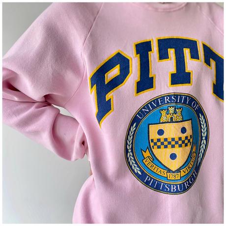 "1990s ""PITT"" カレッジプリントスウェットシャツ USA製"