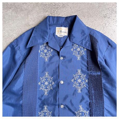 1970s ポリブレンドキューバシャツ