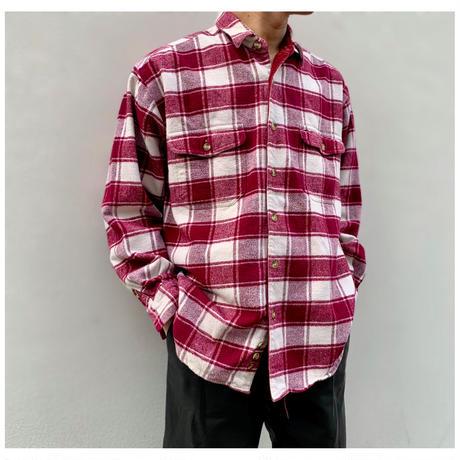 """1990s """"Eddie Bauer"""" フランネルプレイドシャツ"""