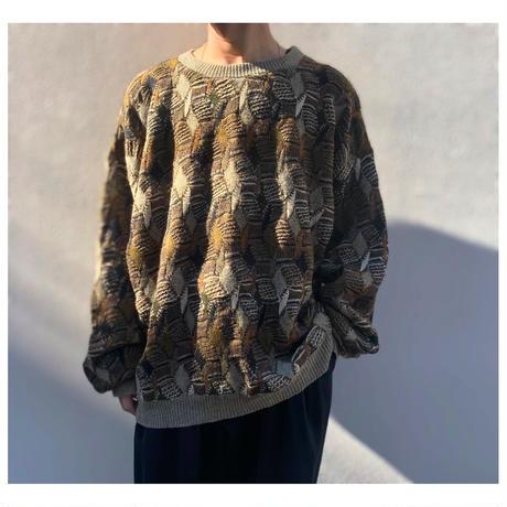 1990s オーバーサイズデザインニットセーター USA製