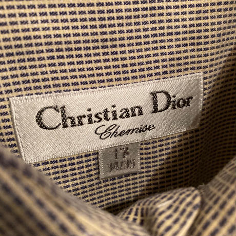 "1990s ""Chrsitian Dior"" コットンドレスシャツ"